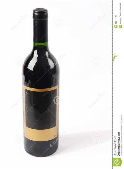 red bottle stock image of bottle of red wine isolated on white