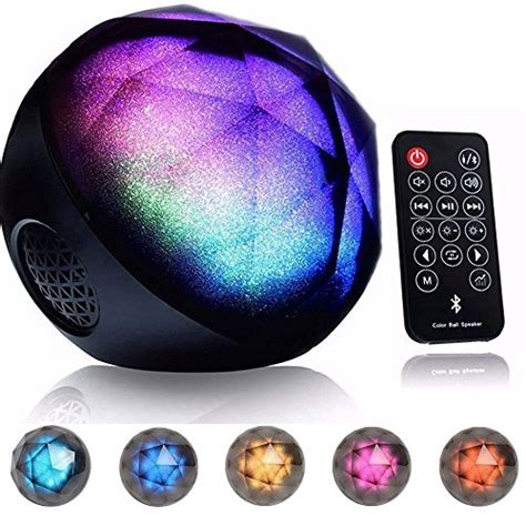 bluetooth speaker with lights amazon drillpro led color changing bluetooth speaker portable