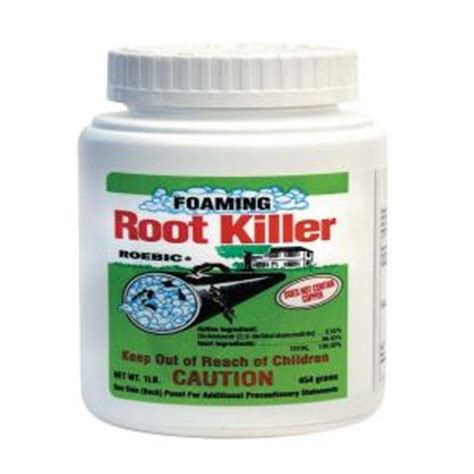 roebic 1 lb foaming root killer frk 6 the home depot