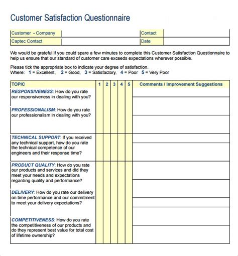 Free Survey - customer survey templates 8 sles exles format sle templates