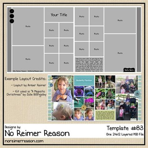 scrapbook templates for photoshop free 17 best images about digital scrapbook freebies on