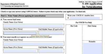 preguntas personales de la n400 loteria a usa la aplicacion de ciudadania americana n 400