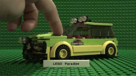 jurassic park tour car lego jurassic park tour car
