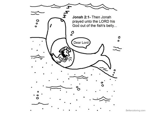 jonah and the whale coloring page jonah and the whale coloring pages jonah prayed free