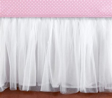White Tulle Crib Skirt by Tulle Crib Skirt Baby Bedding San Francisco By