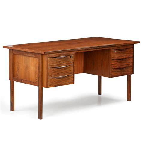 danish mid century modern desk danish mid century modern rosewood executive desk with