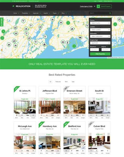templates real estate 80 best real estate website templates free premium