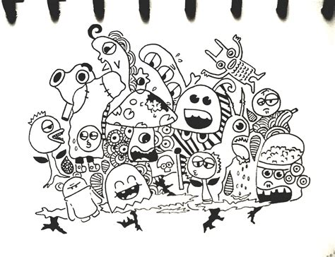 how to draw doodle monsters doodle by tikaafni25 on deviantart