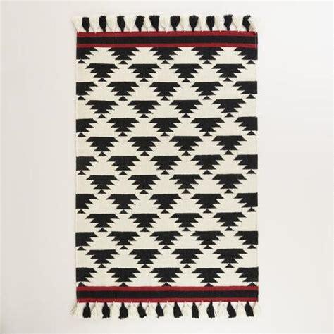 black and white flat weave rug 4 x6 black and white kaia flatweave wool area rug world market