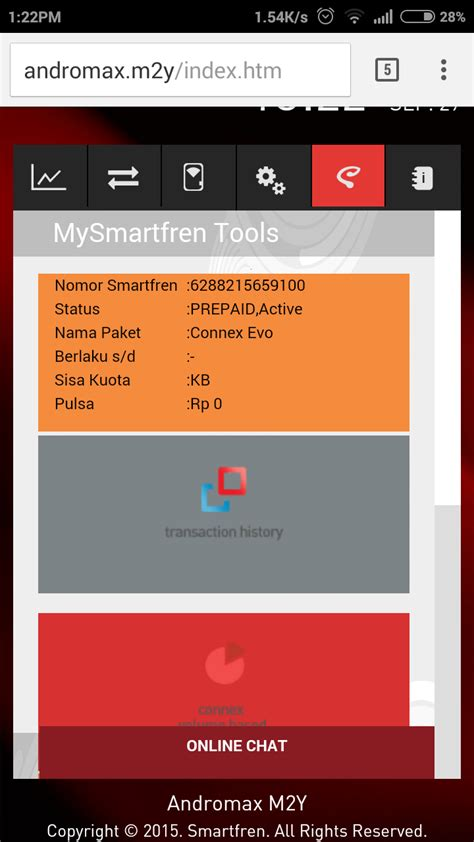 Dan Kuota Modem Smartfren cara cek kuota dan sisa pulsa smartfren andromax m2y m2p m2s rawan