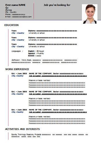 Vordruck Lebenslauf Word by Lebenslauf Vorlage Zum Ausf 252 Llen Als Word Dokument