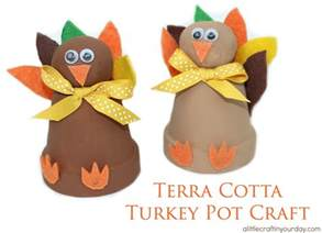 Dorm Room Organizing Ideas - terra cotta turkey pot craft a little craft in your day