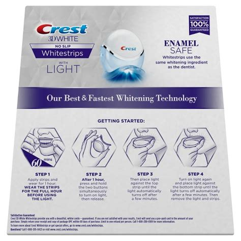 crest whitening strips with light crest 3d white whitestrips with light 10ct target