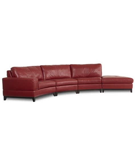 armless leather sectional sofa lyla leather curved sectional sofa 4 curved chair