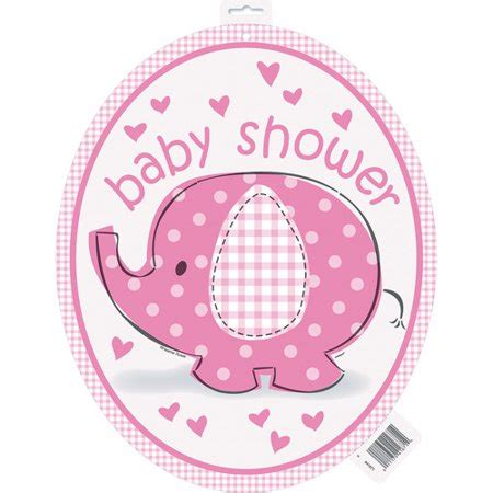 Pink Elephant Baby Shower by Pink Elephant Baby Shower Cut Out Decoration Walmart