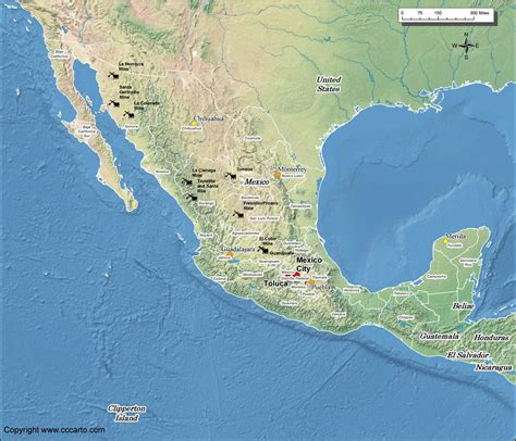 mexico gold mines map world gold mines
