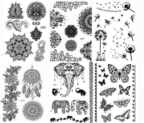 henna tattoo set amazon large lotus inspired temporary