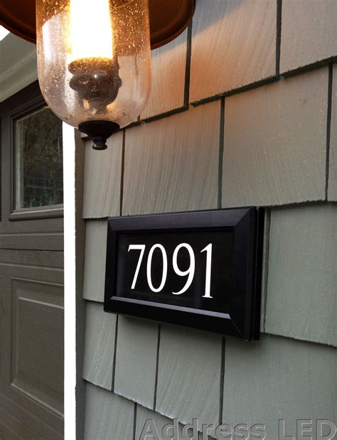 light up address plaque lighted house signs led epoxy resin frontlit house signs