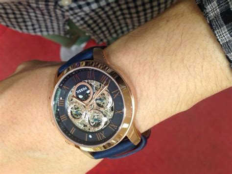 Fossil Me 3029 fossil me3029 grant automatic gold navy accessories for roses