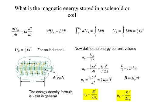 how much energy is stored in the magnetic field of the inductor ppt lecture 10 induction and inductance ch 30 powerpoint presentation id 687139