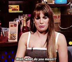 what does gif format mean confused lea michele gif find share on giphy