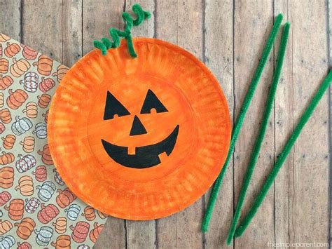 Paper Pumpkin Crafts For - 20 paper plate crafts instincts