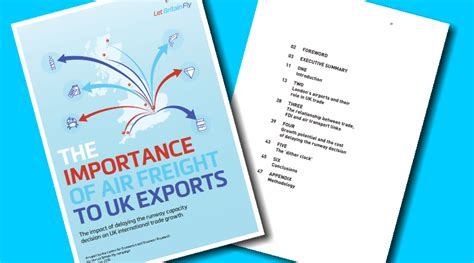 let britain fly publish report and letter on the importance to air freight to uk exports
