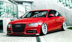 Audi A4 B8 Chip Tuning Audi A4 B8 Limousine Rot Tuning Vossen Wheels