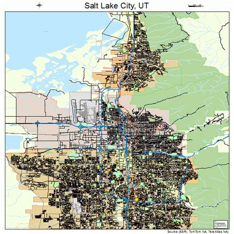 map of salt lake city streets salt lake city utah map 4967000