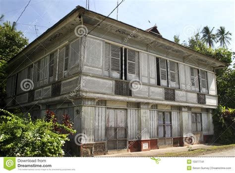 Home Design 150 Sq Meters traditional old style house philippines lifestyle stock