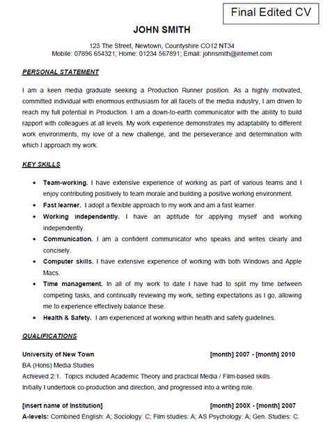 catering assistant jobs examples of work from cv shop