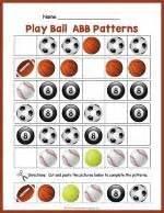 abb pattern video sports balls ab pattern worksheet