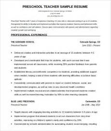 Free Resume Templates For Teachers To by 51 Resume Templates Free Sle Exle Format Free Premium Templates