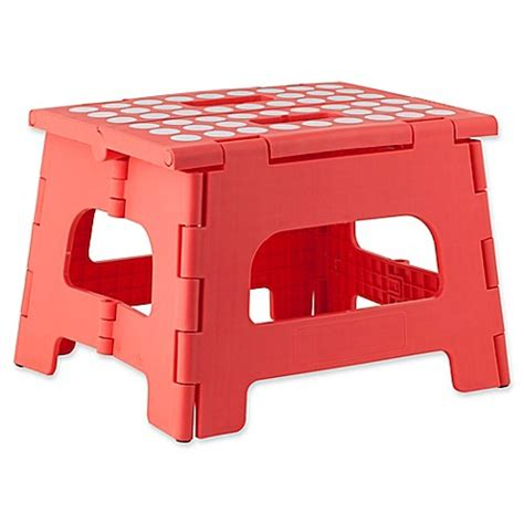 Bed Bath And Beyond Folding Stool by Buy Kikkerland 174 Easy Folding Step Stool From Bed Bath Beyond