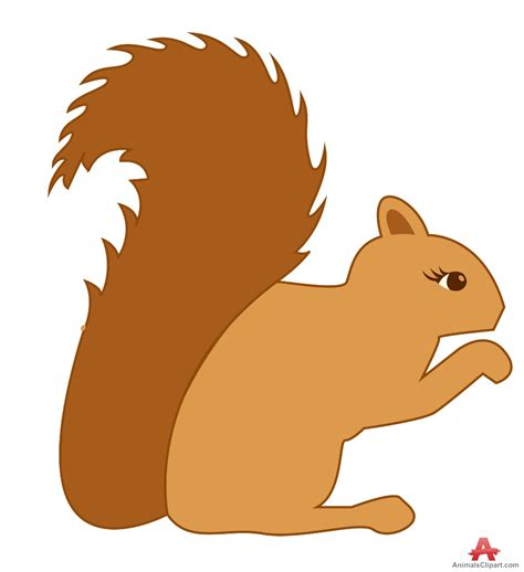 best free clipart outline squirrel clipart best