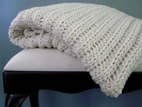 afghan pattern chunky yarn crochet afghan chunky thick in ivory cream off by