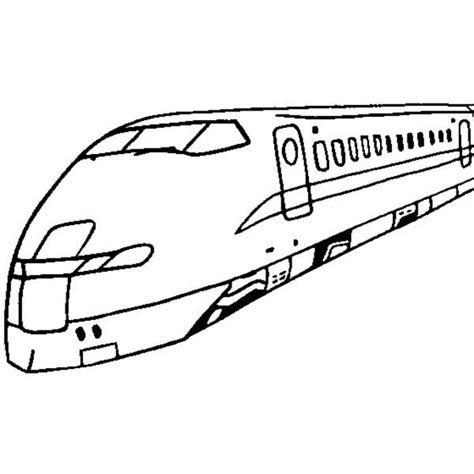 coloring page speed train pictures bullet train sketch pic drawing art gallery