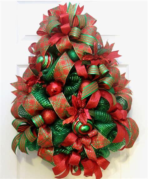 christmas wreaths  front door christmas tree wreath
