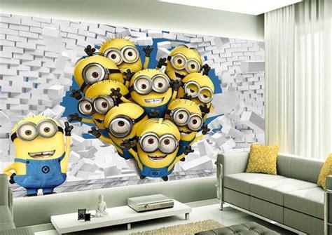 tapisserie chambre d enfant tapisserie 3d papier peint chambre d enfant les minions