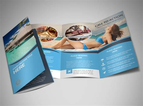cruise ship travel brochure template mycreativeshop