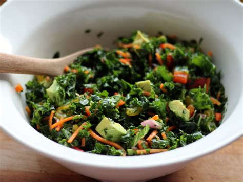 Detox Salad Dressing Recipe by Kale Rainbow Detox Salad With Lemon Vinaigrette