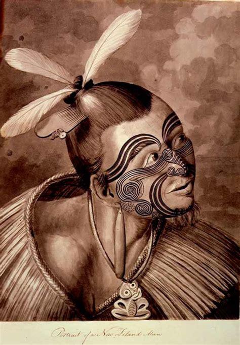 tattoo history in australia portrait of a new zealand man