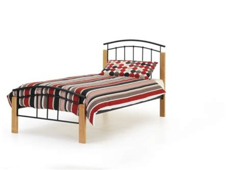 Metal Frame Single Beds Serene Tetras 3ft Single Black Metal Bed Frame By Serene Furnishings