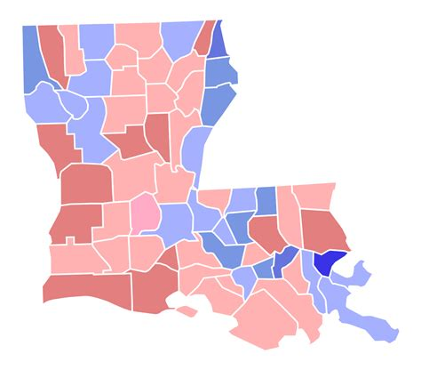 louisiana electoral map 2014 file louisiana senate jungle primary election results by