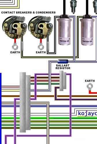 norton colour motorcycle electrcial wiring loom diagrams