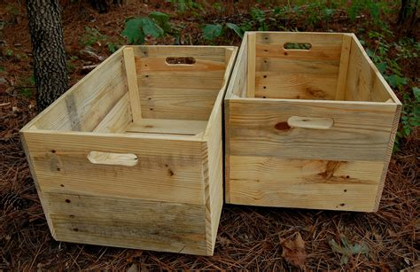 large crate large wooden crates reclaim wood apple by looneybintradingco