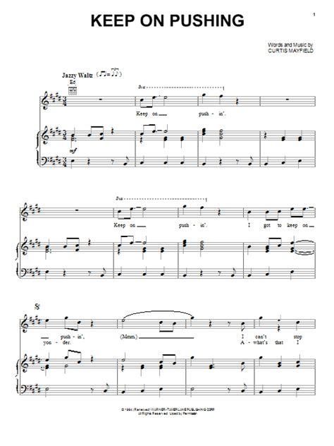 keep pushing on house music keep on pushing sheet music direct