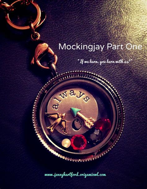 Knock Origami Owl - mockingjay part one origami owl locket created by
