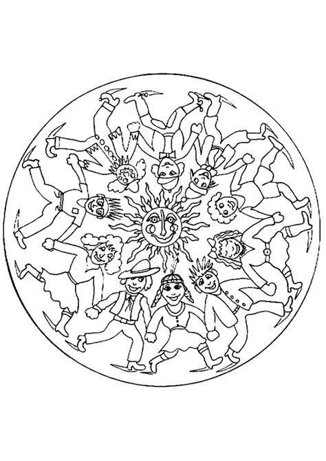 Coloriage Mandala Ronde Page 41 Sur 49 Sur Hugolescargot Com Coloriage Animaux Jungle Imprimer L