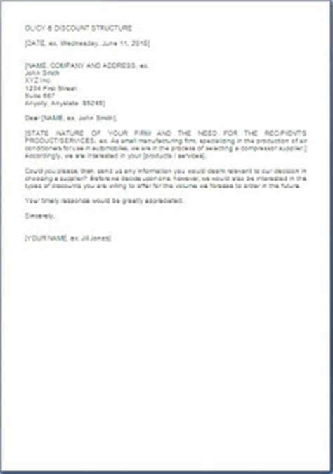 business letter sle request for quotation request for price quotation letter sle